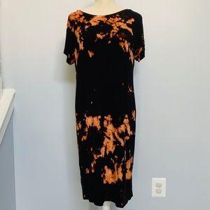 Custom Reverse Tie Dye Maternity Knit Dress